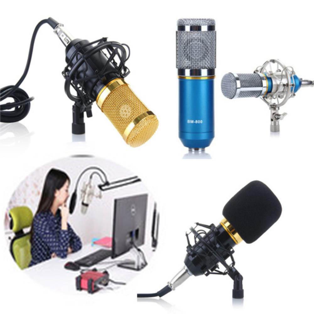 Combo Mic thu âm BM-800 Gồm Micro - Chân Mic - Bông lọc âm