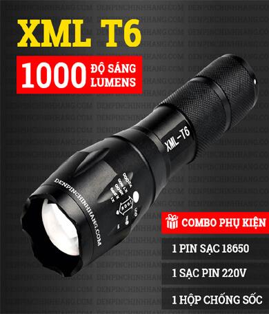 Đền pin cầm tay XML-T6 siêu sáng