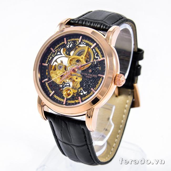 Đồng hồ nam cao cấp Patek Philippe Black Gold P02