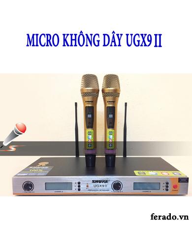 MICRO SHURE KHÔNG DÂY UGX9 II