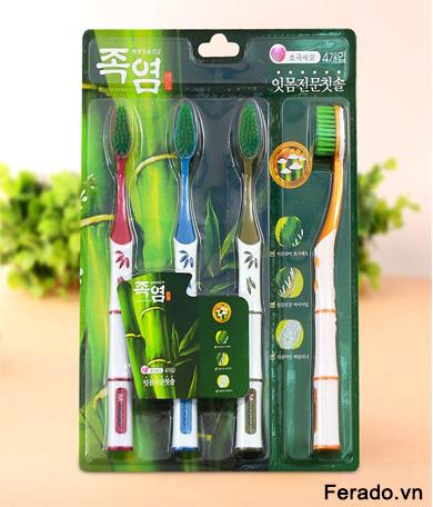 Sét 4 Bàn Chải Đánh Răng Hàn Quốc