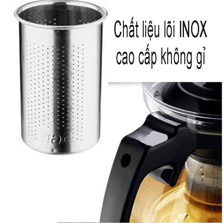 Bình lọc trà tặng 4 ly thuỷ tinh