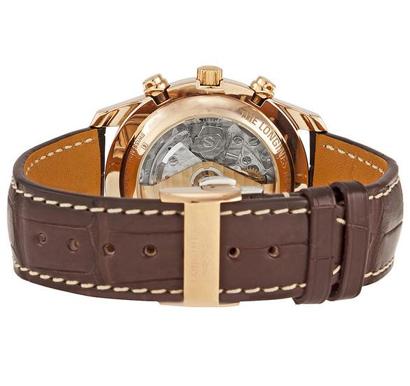 đồng hồ longines 6 kim dây da