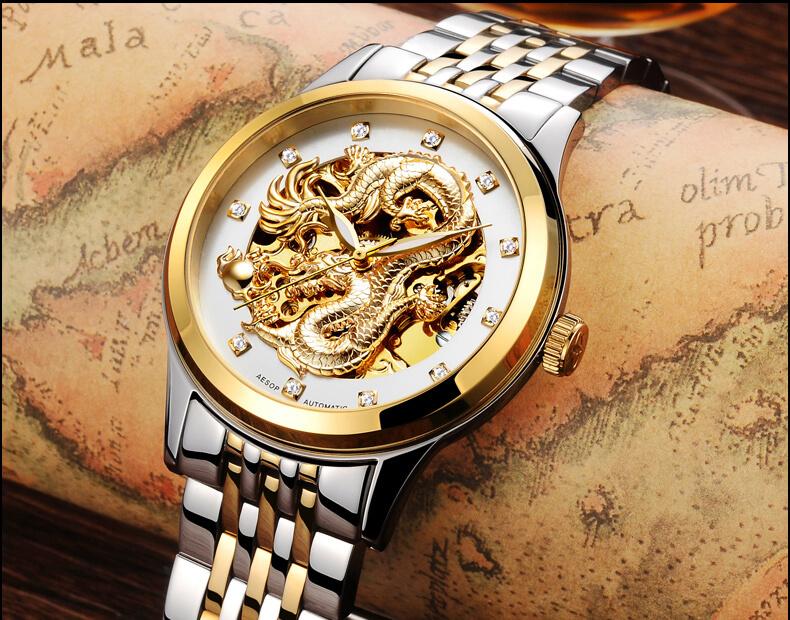 đồng hồ cơ mặt rồng