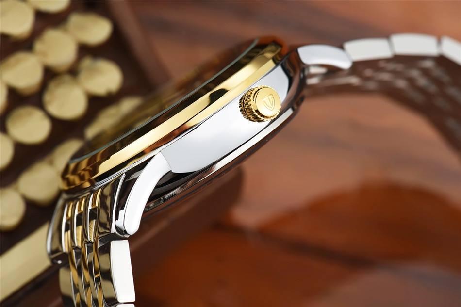 Đồng hồ mặt rồng vàng dây dmi mặt trắng