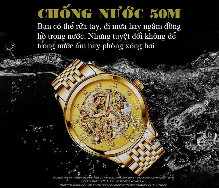 Đồng hồ mặt rồng vàng dây vàng mặt vàng