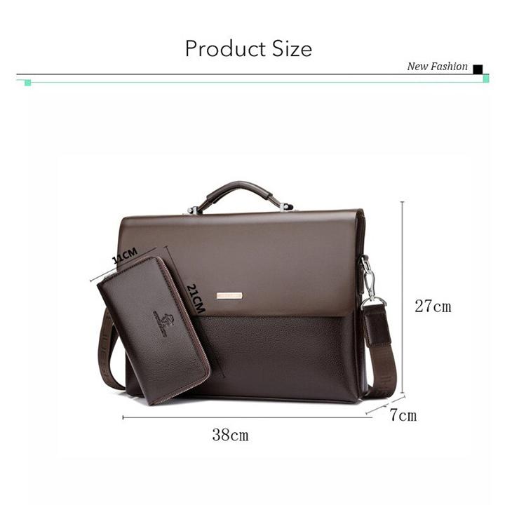"""Với kích thước nổi trội: cao 28cm, độ dày 10cm và chiều ngang là 38cm, các bạn hoàn toàn có thể yên tâm về khoản đựng đồ, chiếc cặp có thể thoải mái để giấy tờ cỡ A4 như tạp chí, hồ sơ, sổ sách mà không sợ bị gấp góc, đựng laptop 14"""" và máy tính bảng cùng với các phụ kiện khác như điện thoại, ví, bật lửa.... Với thiết kế rất nhiều ngăn nên các bạn hoàn toàn có thể để được nhiều đồ khác nhau mà không sợ bị lẫn."""