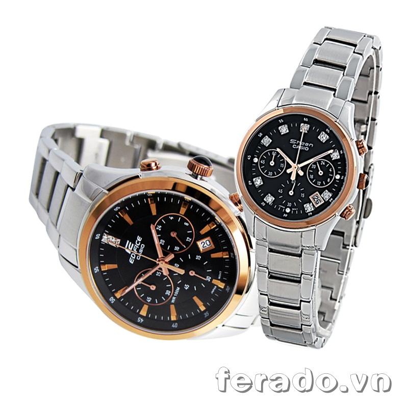 Đồng hồ đôi cao cấp Casio SHN-5003SP và EF-530P