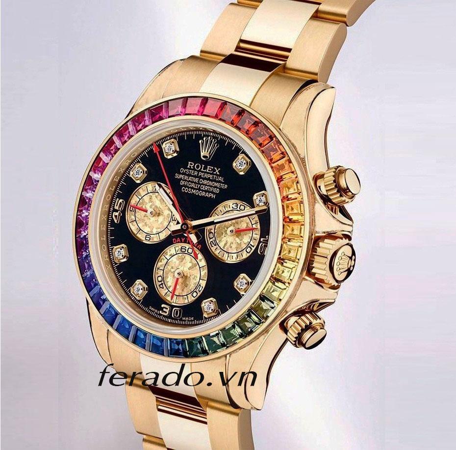 Đồng Hồ Nam Cao Cấp Rolex 7 Màu,Daytona Rainbow ,(Automatic)