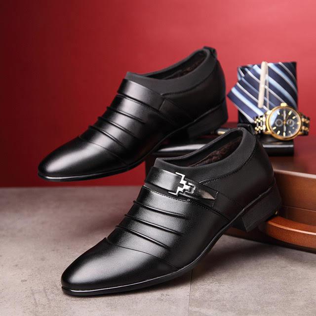 Giày da tăng chiều cao cho nam TC05