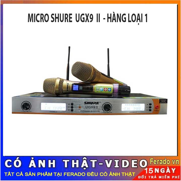 MICRO SHURE UGX9II - MICRO KHÔNG DÂY SHURE UGX9II HÀNG LOẠI 1