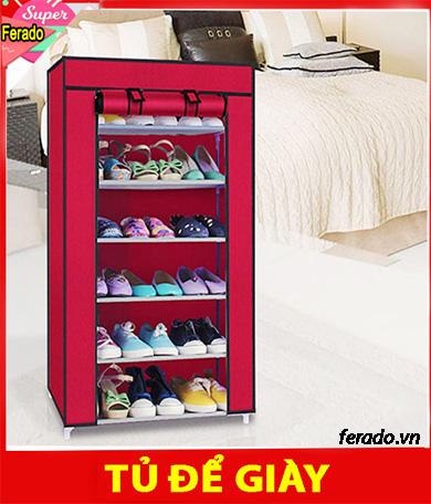 Tủ vãi để giày dép 7 tầng 6 ngăn
